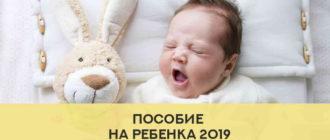 пособие на первого ребенка 2019