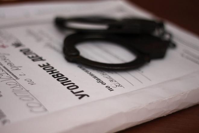 папка и наручники