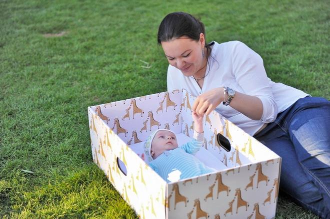 коробка от собянина новорожденным