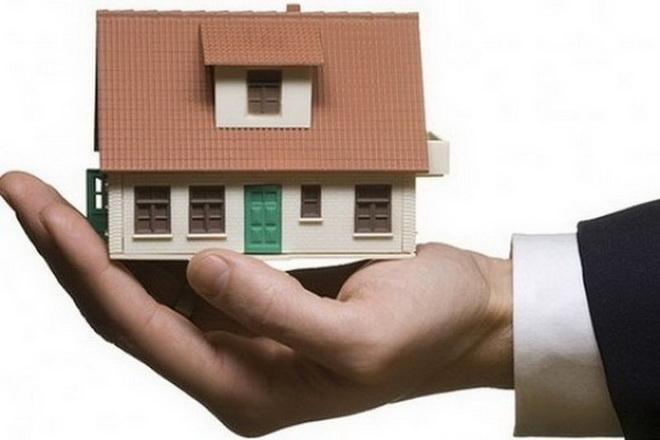 дом на руке